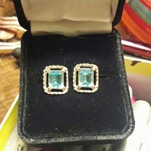 Blue Topaz Peirced Earrings